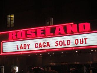 Roseland Ballroom - Final Roseland Ballroom marquee