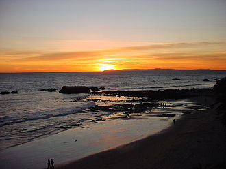 Gulf of Santa Catalina - The Gulf of Santa Catalina in Laguna Beach on sunset