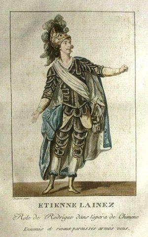 Étienne Lainez - Lainez as Rodrigue in Sacchini's Chimène (1783)