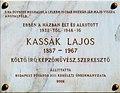 Lajos Kassák plaque Bp13 Bulcsú21a.jpg