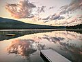 Lake Armington, photo at dusk from east shore looking NW, July 2020.jpg
