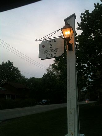 Lakewood, Illinois - Gate 6 sign on South Lake Shore Drive