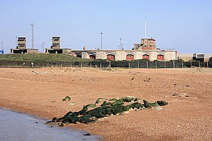 Battle of Landguard Fort - Present day Landguard fort. The Dutch attacked this side of the fort.
