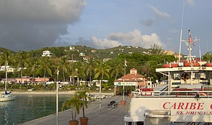Cruz Bay, U.S. Virgin Islands - Image: Landing pier at Cruz Bay, Saint John, United States Virgin Islands 5 28 2008 12 33 25