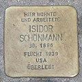 Landshut Stolperstein Schönmann, Isidor.jpg