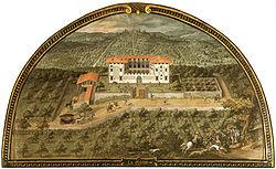 La Villa Medicea di Lappeggi nella lunetta di Giusto Utens (1599), Firenze, Museo di Firenze com'era