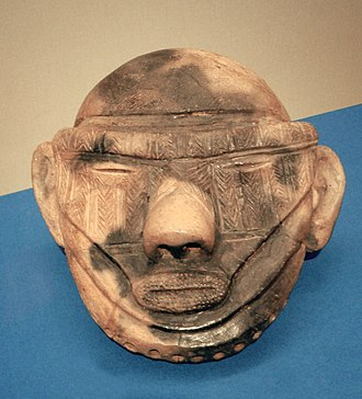 Jōmon period - Image: Late Jomon clay head Shidanai Iwateken 1500BCE 1000BCE
