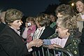 Laura Bush Arch Lighting for Breast Cancer Awareness 20061012.jpg