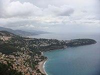 Le cap Martin vu depuis le haut de Monaco.jpg