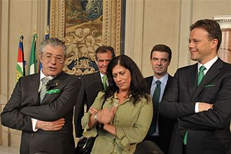 Umberto Bossi - Umberto Bossi (on the left) with Roberto Calderoli, Rosy Mauro, Roberto Cota and Federico Bricolo.