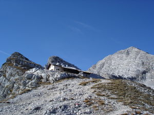 Leogang Mountains - The Passauer Hut and Birnhorn in late autumn