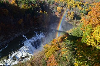 Portage Viaduct - While illegal to trespass on an active railroad, the current bridge offers exquisite views of the falls and gorge.