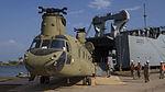 Liberia, Port operations begins, redeployment of military equipment 150216-A-KO462-691.jpg