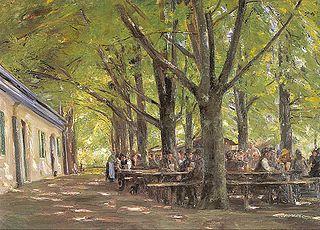 Beer-garden in Brannenburg