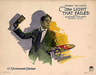 The Light That Failed (1923 film) - Lobby card