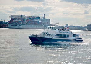 MBTA Boat - The MBTA-owned Lightning on F2H service in August 2013