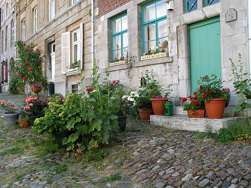 Limbourg (Belgium), typical houses of the St. Georges place.