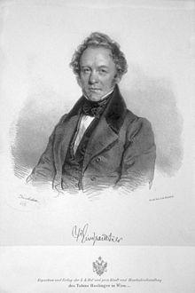 Peter Josef von Lindpaintner, Lithographie von Josef Kriehuber, 1837 (Quelle: Wikimedia)