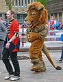 Lion and tamer at Bradford Lord Mayor's Parade (7228325266).jpg