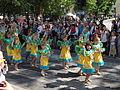 Little samba girls from Império do Papagaio at Helsinki Samba Carnaval 2014.jpg