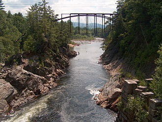 Campton, New Hampshire - Pemigewasset River at Livermore Falls