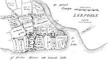 Mappa di Liverpool datata 1572.