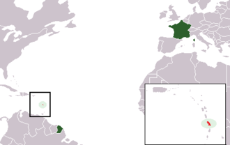 Index of Martinique-related articles - The location of the French overseas department of Martinique