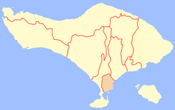 Location within Bali