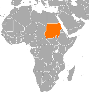 Foreign relations of Sudan - Sudan Location in Africa