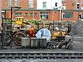 Locomotive wheels, Minehead station - geograph.org.uk - 1714882.jpg