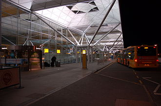 London Stansted Airport - The Terminal building at night