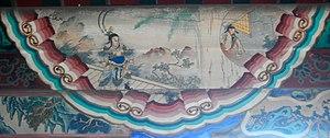 Lü Bu - An illustration of Lü Bu killing Ding Yuan (呂布弒丁原) in the Long Corridor of the Summer Palace, Beijing.