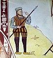 Longinus mural in St Teilo's church, St Fagans.jpg