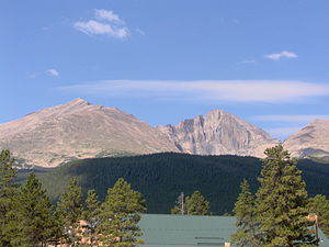 Mount Meeker - Image: Longs Peak and Mount Meeker