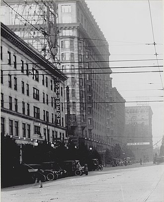 1919 Actors' Equity Association strike - Shubert Theatre in the Union Electric Building circa 1915