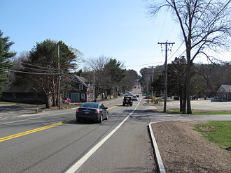 U.S. Route 1 in Massachusetts - Southbound in Topsfield