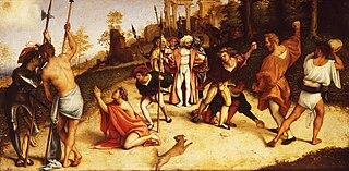 Martyrdom of St Stephen, division of Martinengo Altarpiece