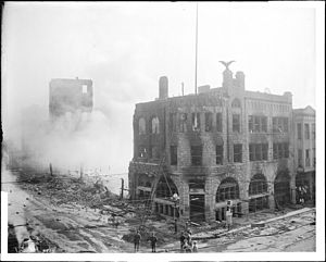 Los Angeles Times bombing - Los Angeles Times building, after the bombing disaster on October 1, 1910