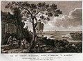 Louis-François Cassas, Vue du Chemin D'Antonin, avant d'Arriver a Baruth (showing the Nahr El Kalb inscriptions).jpg