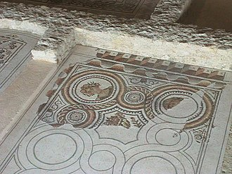 Canton of Mèze - Mosaics in the Gallo-Roman villa of Loupian
