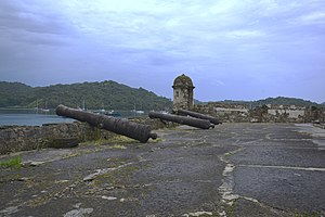 Fortifications on the Caribbean Side of Panama: Portobelo-San Lorenzo - Lower battery of San Fernando