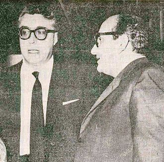 Vasco Pratolini - Vasco Pratolini (right) with the Italian writer Luigi Silori, 1959