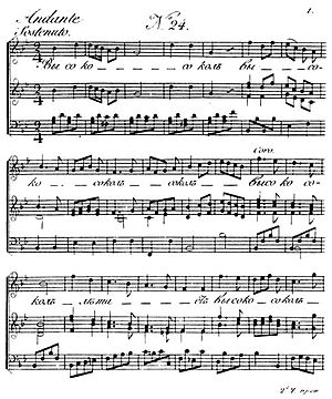 Nikolay Lvov - Sheet music from the 1806 edition of Lvov and Pratsch collection