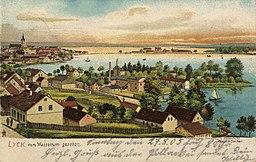 Lyck, Ostpreußen - Stadtansicht vom Wasserturm Joh. Fahrun, Lyck / Public domain