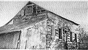 Lyman Wight - Residence of Lyman Wight at Adam-ondi-Ahman in 1838 (lean-to on the end of building is not part of the original residence)