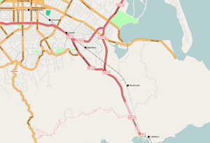 Lyttelton Line - Map of the Lyttelton Line route.
