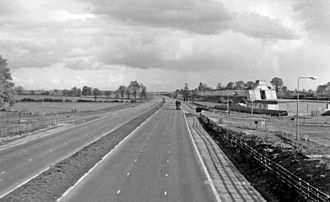 Watford Gap services - The M1 and Watford Gap Services in 1961