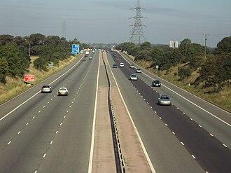 M53 motorway - Image: M53, Storeton 130909