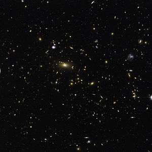 The brilliant central object is a supergiant e...