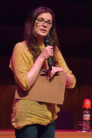 Aisling Bea - Bea on stage during the Wikimania 2014